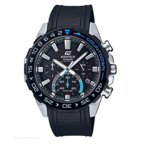 Casio Men's Edifice Solar-Powered EFS-S550 Series Chronograph Watch - Blue - EFSS550PB-1A