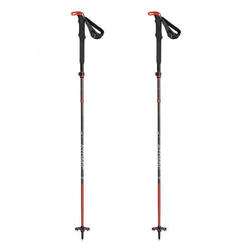 Atomic BCT Mountaineering Carbon SQS Ski Poles - Grey/Red - AJ5005452-NS