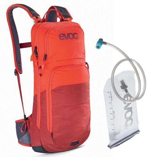 EVOC CC 10 + 2L Lite Performance Hydration Backpack - Orange/Chili Red - 100313516