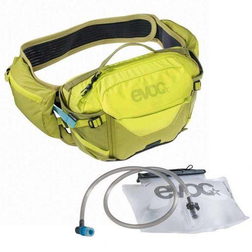 EVOC Hip Pack Pro + 1.5L Bladder - Sulphur/Moss Green - 102504415