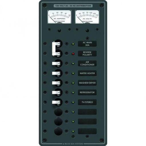 Blue Sea Systems Breaker Panel 120VAC 10 Pos - 8074