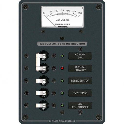 Blue Sea Systems Breaker Panel 120VAC 3 Pos - 8043