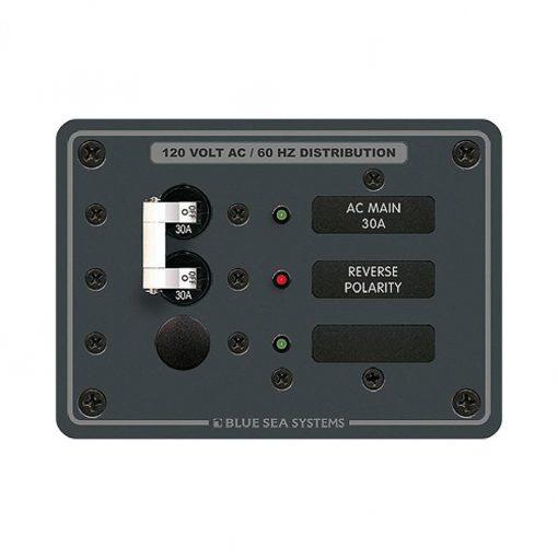 Blue Sea Systems Panel 120VAC Main + 1 Pos - 8029