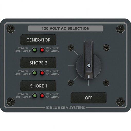 Blue Sea Systems AC Rotary Panel 120VAC 32A - 8366