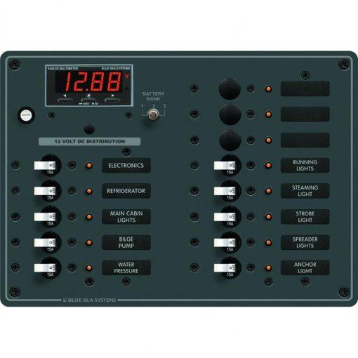 Blue Sea Systems Breaker Panel DC 13 Pos - 8403