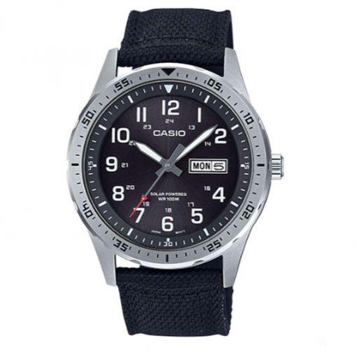 Casio Classic Diver Inspired Solar Analog Watch - Black - MTPS120L-1AV