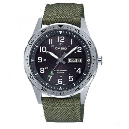 Casio Classic Diver Inspired Solar Analog Watch - Olive - MTPS120L-3AV
