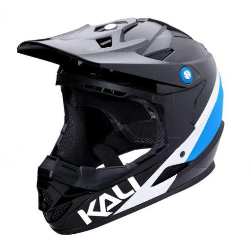 Kali Protectives Kid's Zoka Youth BMX Bike Helmet - Pinner Gloss Black/Blue/White - 021061812