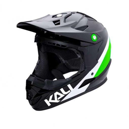 Kali Protectives Adult Zoka BMX Bike Helmet - Pinner Gloss Black/Lime/White - 021061813