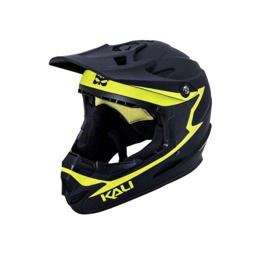 Kali Protectives Adult Zoka BMX Bike Helmet - Reckoning Matte Black/Flou Yellow - 021061921