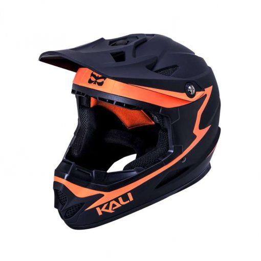 Kali Protectives Adult Zoka BMX Bike Helmet - Reckoning Matte Black/Orange - 021061922