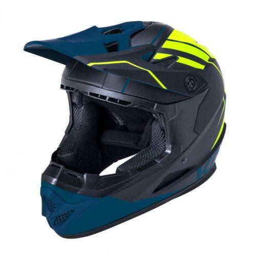 Kali Protectives Adult Zoka BMX Bike Helmet - Eon Matte Black/Fluo Yellow/Teal - 021062013