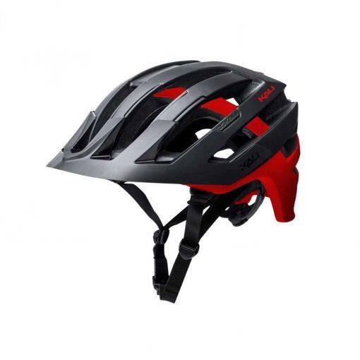 Kali Protectives Adult Interceptor MTB Cycling Helmet - Dual Matte Black/Red - 022131711