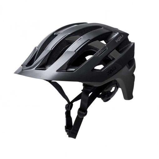 Kali Protectives Adult Interceptor MTB Cycling Helmet - Dual Matte Black/Titanium - 022131821