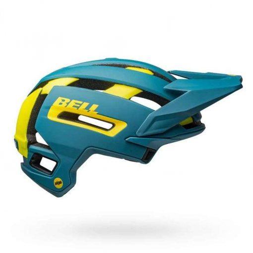 Bell Sports Super Air MIPS Bicycle Helmet - MATTE-GLOSS BLUE-HI-VIZ