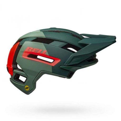 Bell Sports Super Air MIPS Bicycle Helmet - MATTE-GLOSS GREEN-INFRARED