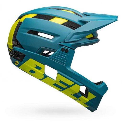 Bell Sports Super Air R MIPS Bicycle Helmet - MATTE-GLOSS BLUE-HI-VIZ
