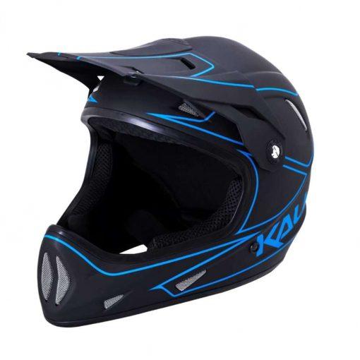 Kali Protectives Kid's Alpine Youth MTB Cycling Helmet - Rage Matte Black/Blue - 021091911