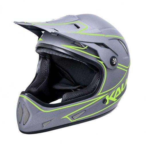 Kali Protectives Adult Alpine MTB Cycling Helmet - Rage Matte Grey/Fluo Yellow - 021091912