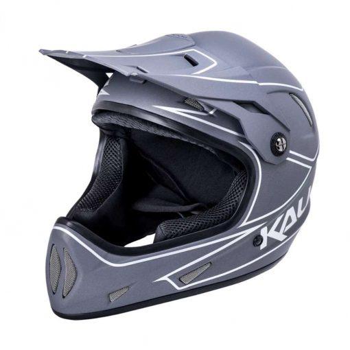 Kali Protectives Adult Alpine MTB Cycling Helmet - Rage Matte Grey/Silver - 021091913