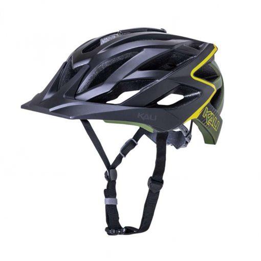 Kali Protectives Adult Lunati MTB Cycling Helmet - Frenzy Matte Black/Khaki - 022111913