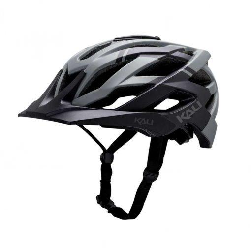 Kali Protectives Adult Lunati MTB Cycling Helmet - Shade Matte Black/Grey - 022111811