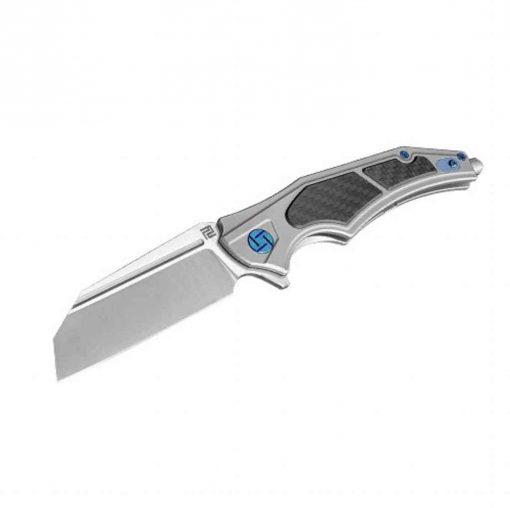 Artisan Cutlery Apache Nomad Folder 3.82 Inch M390 Blade Gray Titanium - 1813G-GYM