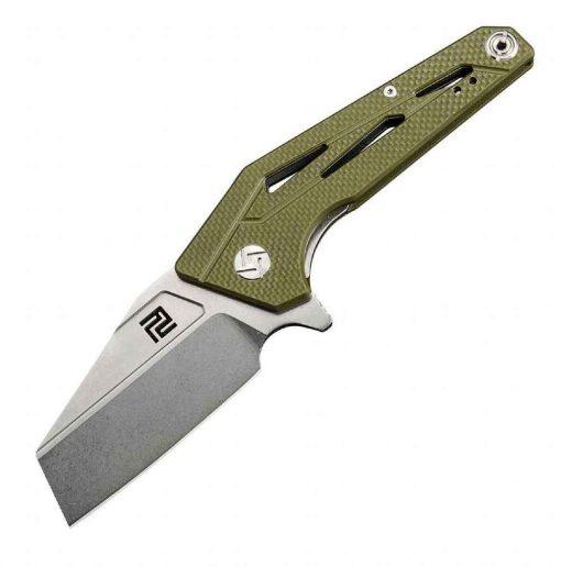 Artisan Cutlery Ravine Folder 2.83 Inch D2 Blade Green G-10 Handle - 1819P-GN