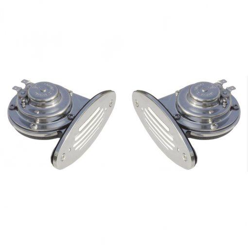 Ongaro Mini Dual Drop-In Horn W/ SS Grills Hi & Lo Pitch - 10055