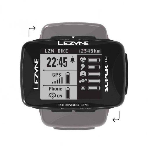 Lezyne Super Pro GPS Black - 1-GPS-SPR-V304