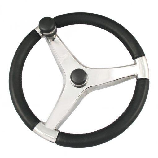 "Ongaro Evo Pro 316 Cast SS Wheel W/ Knob 15.5"" 3/4"" Taper - 7241521FGK"