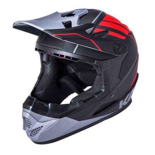 Kali Protectives Zoka Eon Full Face Helmet - Matte Black/Red/Gray|XL - 210620128
