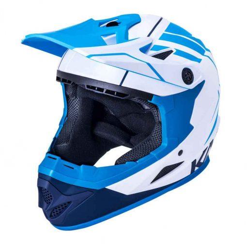 Kali Protectives Zoka Eon Full Face Helmet - Matte White/Blue/Navy|L - 35856487
