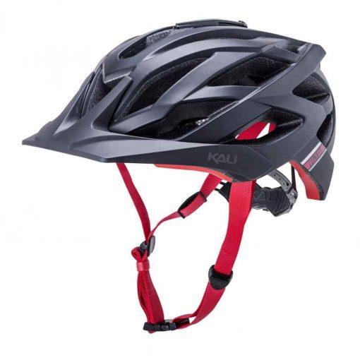 Kali Protectives Lunati Enduro Helmet - Matte Black Red S/M - 38051934