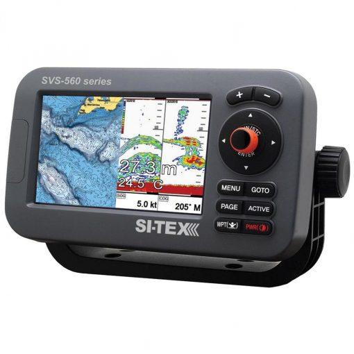 """SI-TEX SVS-560CF Chartplotter-5"""" Color Screen w/Internal GPS & Navionics+ Flexible Coverage - SVS-560CF"""