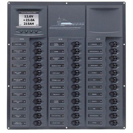 Bep Cruiser Series DC Circuit Breaker Panel With Digital - NC36L-DCSM