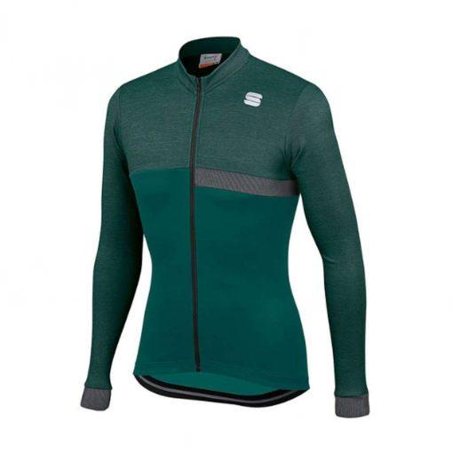 Sportful Men's Giara Thermal Long Sleeve Cycling Jersey - Sea Moss - A1119512329