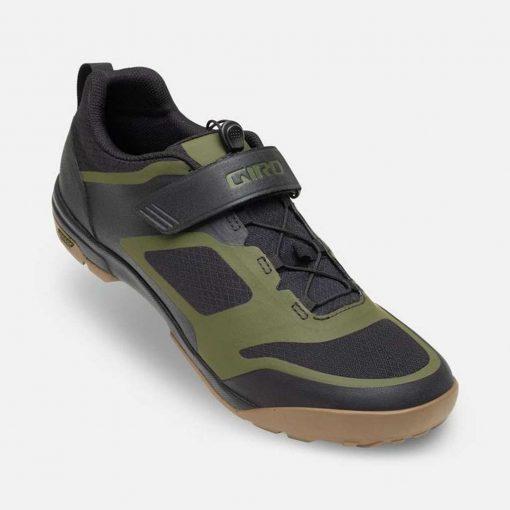 Giro Ventana FastLace Mountain Bike Shoes - Black/Olive - 71178