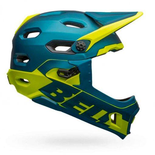 Bell Sports 2020 Super DH MIPS-Equipped Bicycle Helmet - MATTE-GLOSS BLUE-HI-VIZ