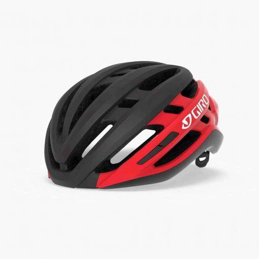 Giro Agilis MIPS Road Cycling Helmet - Matte Black/Bright Red - 7112