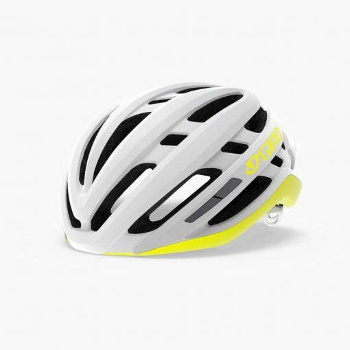 Giro Women's Agilis MIPS Road Cycling Helmet - Matte White/Citron - 711288