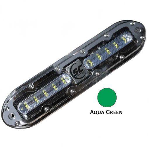 Shadow-Caster Aqua Green 10 Led Underwater Light W/20 Ft - SCM-10-AG-20