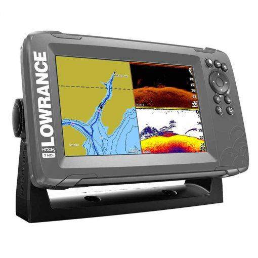 "Lowrance HOOK -7 7"" Chartplotter/Fishfinder SplitShot Transom Mount Transducer with Nav+ Chart - 000-14290-001"