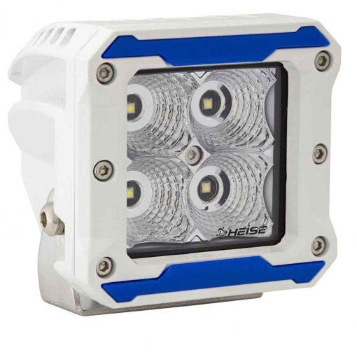 Heise 3 Inch 4 Led Marine Cube Light Flood Beam - HE-MHCL2
