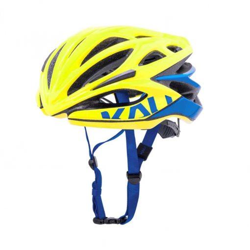 Kali Protectives Adult Loka Road Helmet - Valor Gloss Yellow/Blue - 024021913