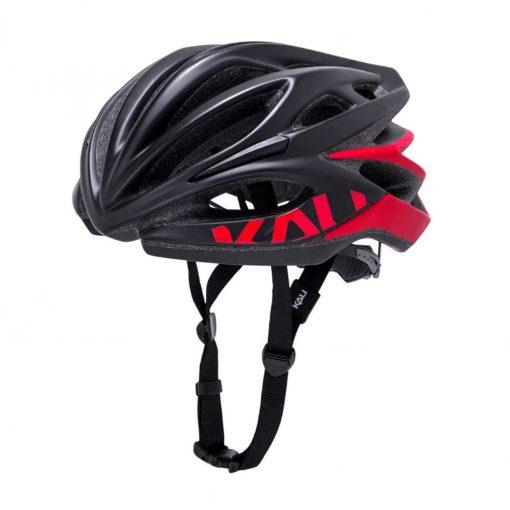 Kali Protectives Adult Loka Road Helmet - Valor Matte Black/Red - 024021912
