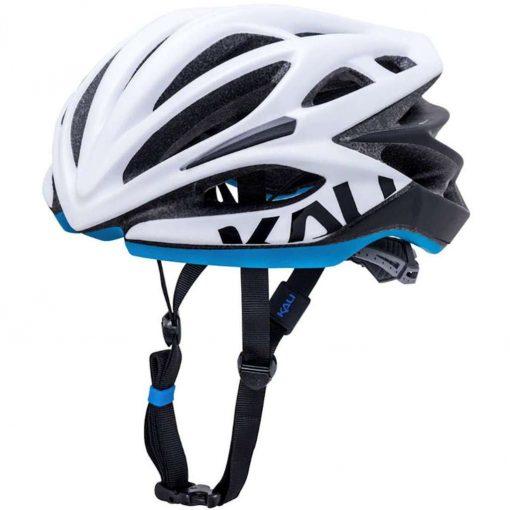 Kali Protectives Adult Loka Road Helmet - Valor Matte White/Black/Blue - 024022011