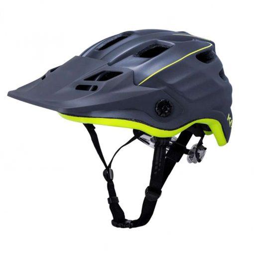Kali Protectives Adult Maya 2.0 MTB Cycling Helmet - Revolt Matte Titanium/Fluo Yellow - 022041914
