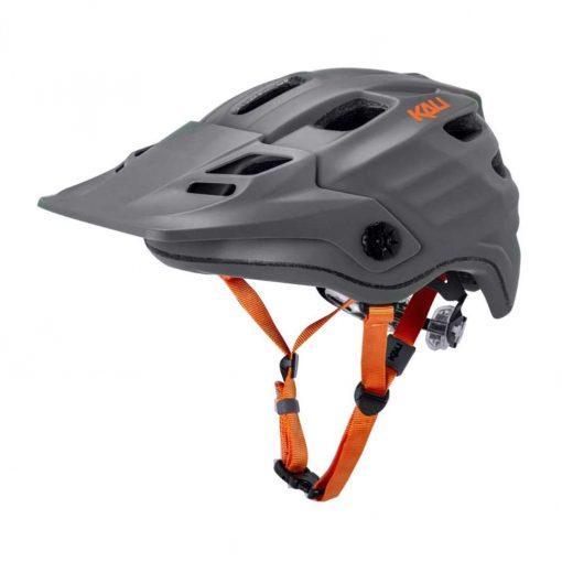 Kali Protectives Adult Maya 2.0 MTB Cycling Helmet - Solid Matte Grey/Orange - 022042012