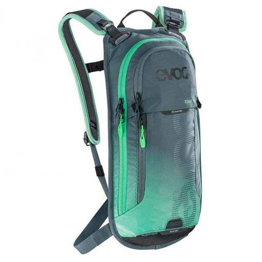 EVOC, Stage 3 + 2L Bladder, Hydration Bag, Volume: 3L, Bladder included: 2L, Slate/Neon Green - 100206228